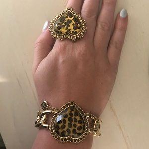 Betsey Johnson Jewelry - Betsey Johnson leopard heart bracelet